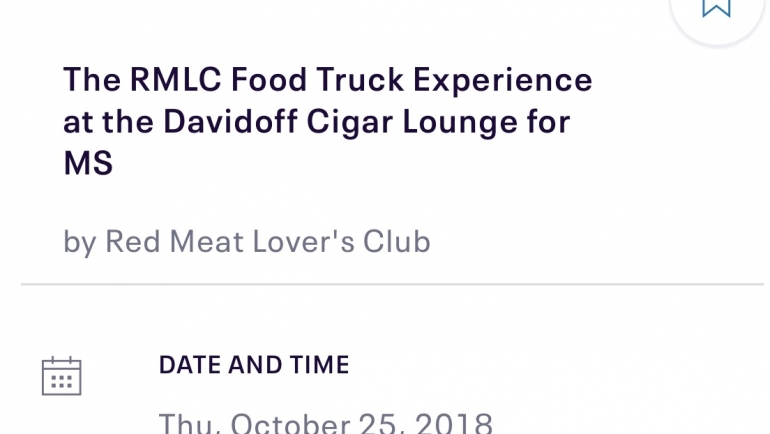 The RMLC Food Truck Experience at the Davidoff Cigar Lounge