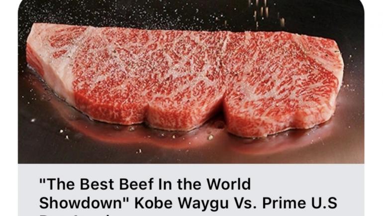 """The Best Beef In the World Showdown Kobe Waygu Vs. Prime Dry Aged"